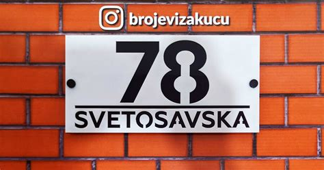 Kućni broj Svetosavska 78 - Kućni Brojevi - Brojevi/oznake ...