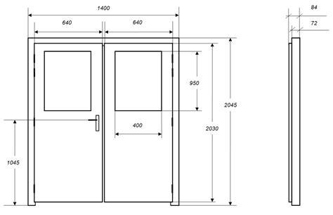 dimension d une porte portes isophoniques iso dpv porte acoustique