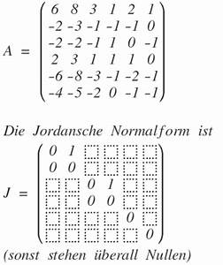 Basis Einer Matrix Online Berechnen : jordan jordan basis einer 6 6 matrix a 6 8 3 1 2 1 ~ Themetempest.com Abrechnung