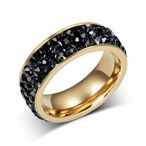 fashion women crystal rings wholesale 18k gold plated With wedding rings wholesale