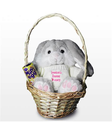 Personalised Easter Bunny Basket Pink  Just For Gifts