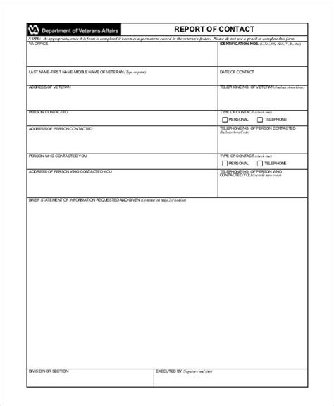 Reports Templates by 9 Contact Report Templates Free Sle Exle Format
