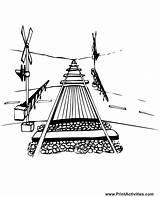 Railroad Coloring Train Tracks Crossing Csx Freight Track Sheet Printactivities Template Printable Coming Down Dibujos Dimensions Town Drawings sketch template
