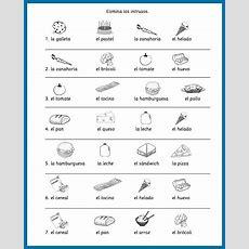 Spanish Food Vocabulary Printable Activities  Spanish Playground