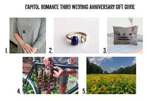 wedding anniversary gift chart third wedding anniversary gift ideas leather sunflower moonstone capitol