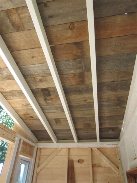relaxshackscom  recycled barn woodfence plank ceiling