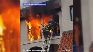 Firefighters Rescue Man From Burning Apartment Video