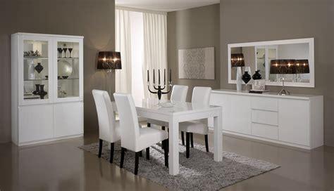 salle 224 manger compl 232 te design laqu 233 e blanche cristal salle 224 manger pas ch 232 re salle 224