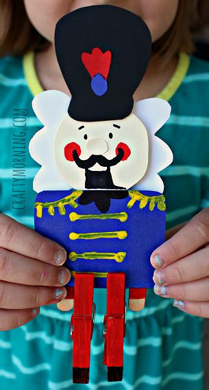 awesome nutcracker clothespin paper craft
