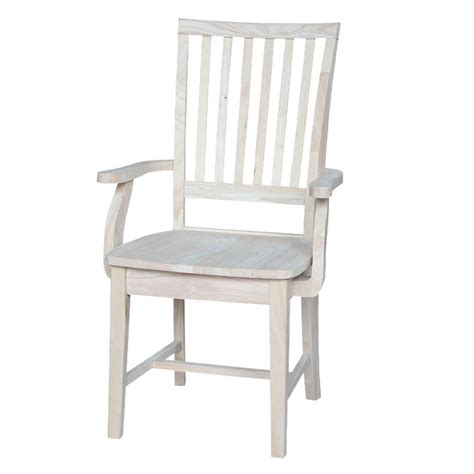 international concepts unfinished wood mission side chair