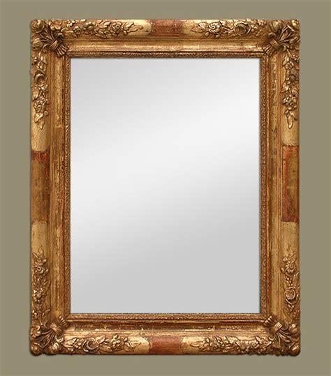 miroir doré ancien miroir ancien 19 232 me style romantique