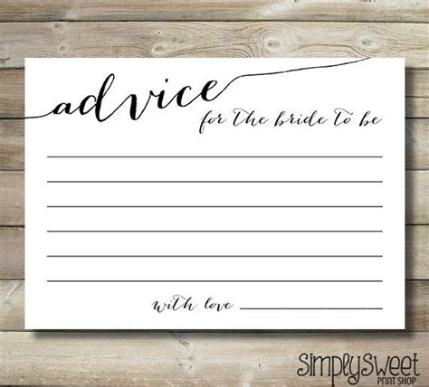 Bridal Shower Advice Cards Template by 25 Best Ideas About Bridal Shower Advice On