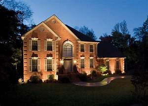 6 reasons for outdoor lighting kg landscape management With outdoor lighting on brick house