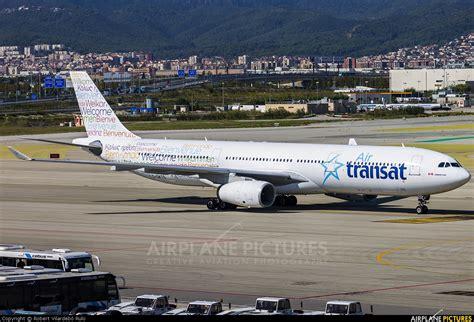 c gkts air transat airbus a330 300 at barcelona el prat photo id 327420 airplane
