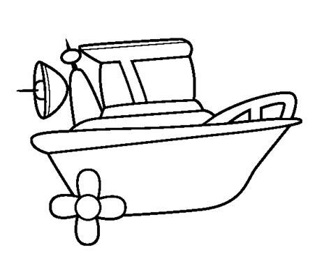 Barco Dibujo Para Pintar by Dibujo De Barco A Motor Para Colorear Dibujos Net