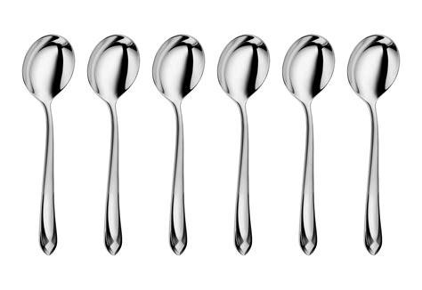 wmf juwel stainless steel soup spoon set  piece cutlery