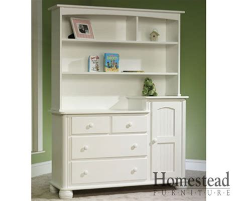 Baby Changing Dresser With Hutch by The Cottage Changing Table With Hutch Features Turned Bun