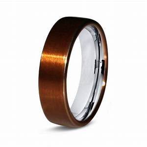Copper titanium ring copper men titanium rings copper for Mens copper wedding rings
