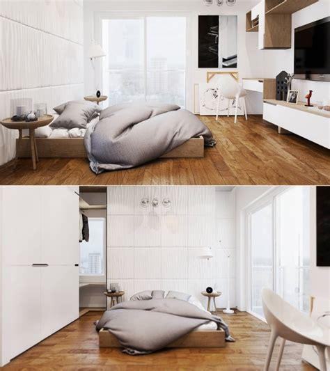 deco chambre bois idee deco chambre blanche bois