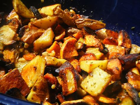 >ovenroasted Root Vegetables And Garlic Garlicescapes