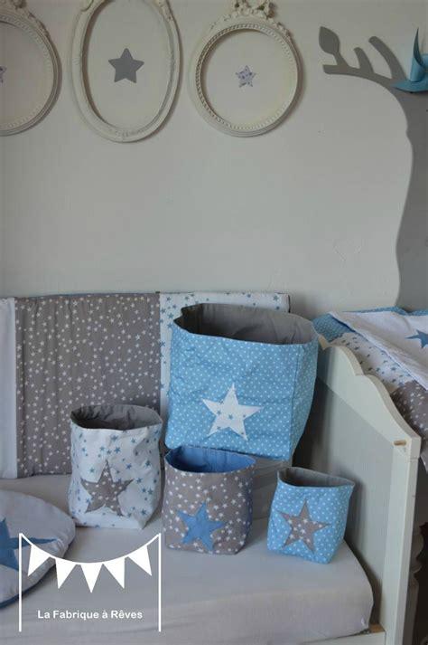 pochons rangement réversibles chambre bébé garçon bleu