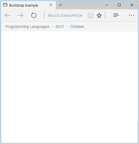 bootstrap breadcrumb tutorialology