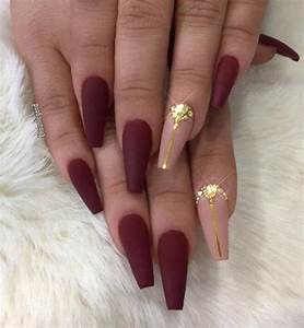 45 Chic Classy Nail Designs | Autumn Nail | Pinterest | Royal red Red nails and Beige colour