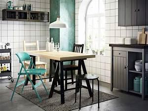 treteaux ikea noirs With deco cuisine avec table À diner