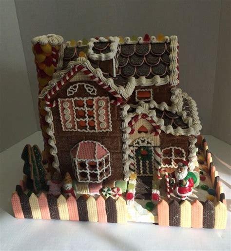 gingerbread house lights decorations vintage traditions lighted gingerbread house with santa