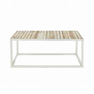 Table Basse Maison Du Monde : table basse en bois et m tal l 100 cm mistral maisons du monde ~ Teatrodelosmanantiales.com Idées de Décoration