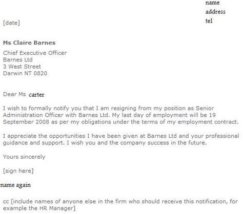 mypicsain resignation letter  week notice