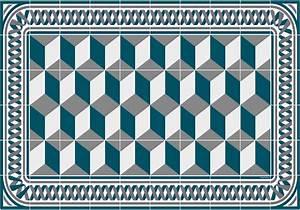 Set De Table Bleu : set de table carreaux de ciment eug nie bleu canard ~ Teatrodelosmanantiales.com Idées de Décoration