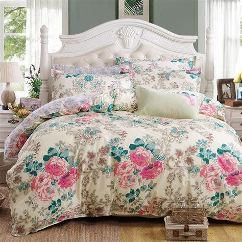 Elegant Floral Bedding Set Polyester Cotton Bed Linen Sets