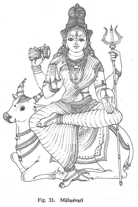 Mahesvari | Hindu art, Indian art paintings, Art sketches