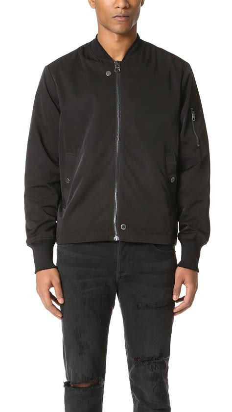 lyst cheap monday beat bomber jacket in black for