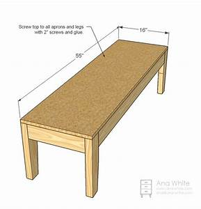 Ana White Easiest Upholstered Bench - DIY Projects