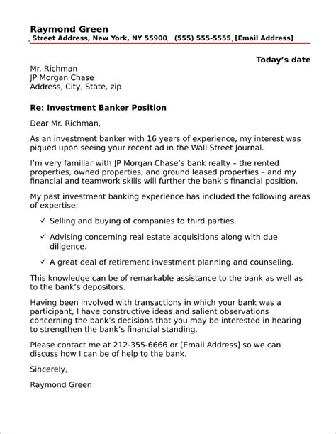 Cover Letter Investment Banking by Accounting Clerk Cover Letter Sle
