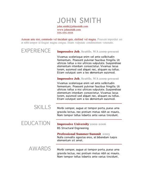 primer 2 word resume template open resume templates