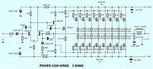 Mosfet Power Amplifier 5200w Irfp250
