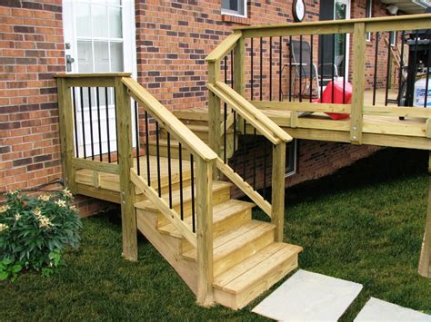 Wooden Handrails For Outdoor Steps - concrete stair railing kit outdoor wrought iron exterior