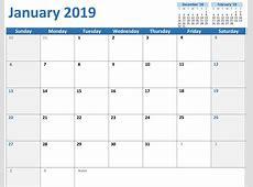 Free Printable Calendar 2018 PDF Word Page Excel Blank
