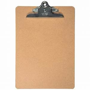 brown hardboard clipboard letter size 9 x 12 1 2 With letter size clipboard