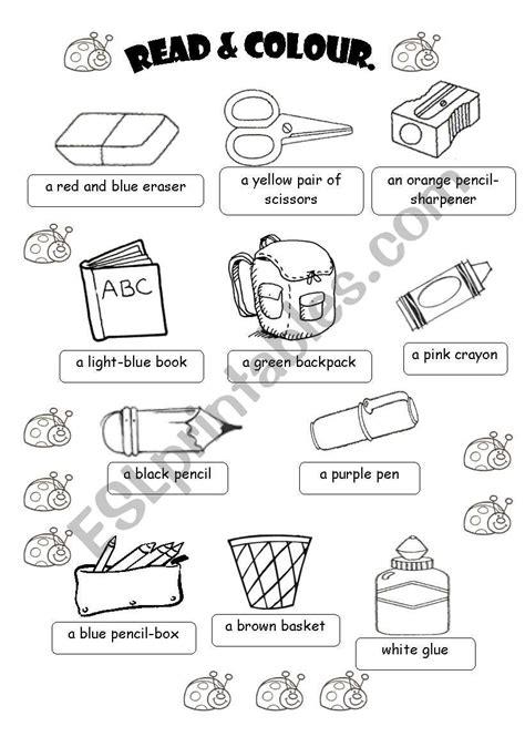 school objects worksheet for kindergarten classroom objects esl worksheet by fabiola salinas