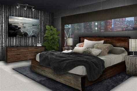 young mens bedroom decorating ideas  clasic wood