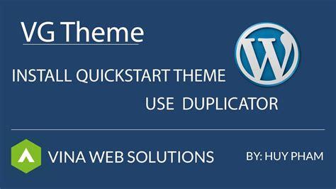 vg theme install quickstart wordpress theme youtube
