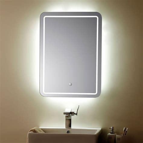 miroir vertical argent 233 224 oules led de salle de bains avec l interrupteur tactile 23 6 po x