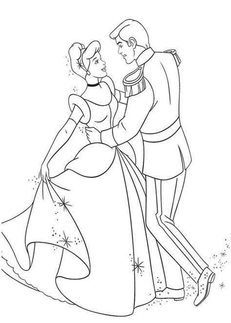 cinderella  prince charming dance  cinderella coloring page  print