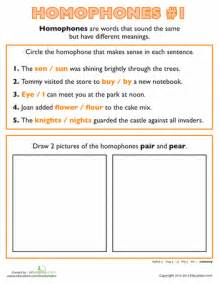 Homophone Practice  Worksheets, Sentences And Reading Worksheets