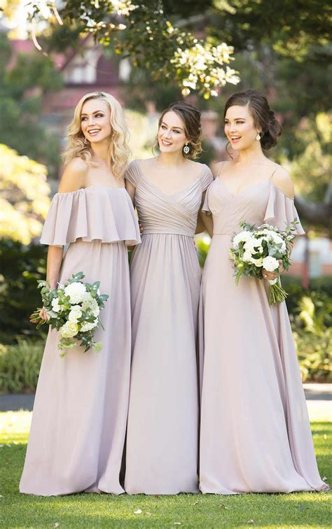 bridesmaid dresses romantic chiffon boho bridesmaid gown