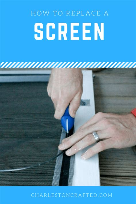 how to replace a screen door screen charleston crafted